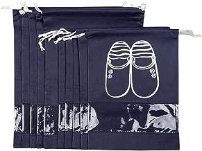 10-PCS Navy Blue Portable Travel Shoe Bags Storage Organizer Bag for Men Women