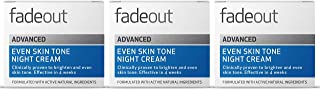 Fade Out Advanced Even Skin Tone Night Cream 3 x 50ml - With Niacinamide Lactic Acid and Rosehip Seed Oil