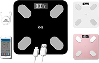 Smart Electronic Bluetooth Body Fat Scale with USB Rechargeable, Smart Digital Wireless Weight Scale, Body Composition Mon...