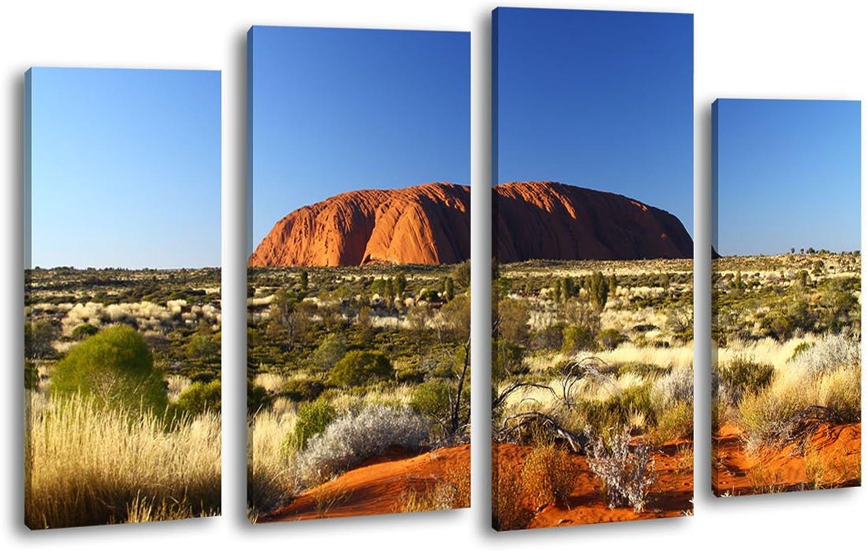 Leinwandbild Ayers Ayers Ayers Rock SUnrise LW148 Wandbild, Bild auf Leinwand, 4 Teile, 180x100cm, Kunstdruck Canvas, XXL Bilder, Keilrahmenbild, fertig aufgespannt, Bild, Holzrahmen, Australien, Outback, Uluru, B00JEANXTC f689b9
