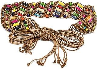 Viva Fancy Bohemia Womens' Colorful Woven Belt Wax Rope Skirt Dress Belts WD562