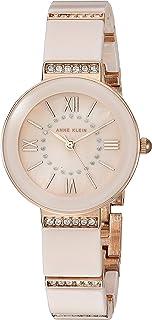 ساعة يد بسوار من السيراميك المرصع بكريستال سواروفسكي للنساء من ان كلاين
