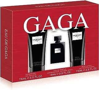 Lady GaGa Eau De Gaga 3 Piece Gift Set (0.5 Ounce Eau De Parfum Plus 2.5 Ounce Body Lotion Plus 2.5 Ounce Shower Gel)