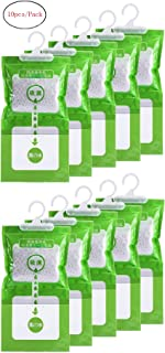 Jiaan Hygroscopic Anti-Mold Deodorizing Moistureproof Desiccant Hanging Bag Use for Kitchen Bathroom Wardrobe, Dehumidification Process Could be Witness (10pcs/Pack)