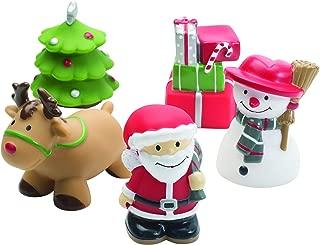 Best Selling Christmas Elegant Baby Rubber Bath Water Squirties, Santa Bath Toys