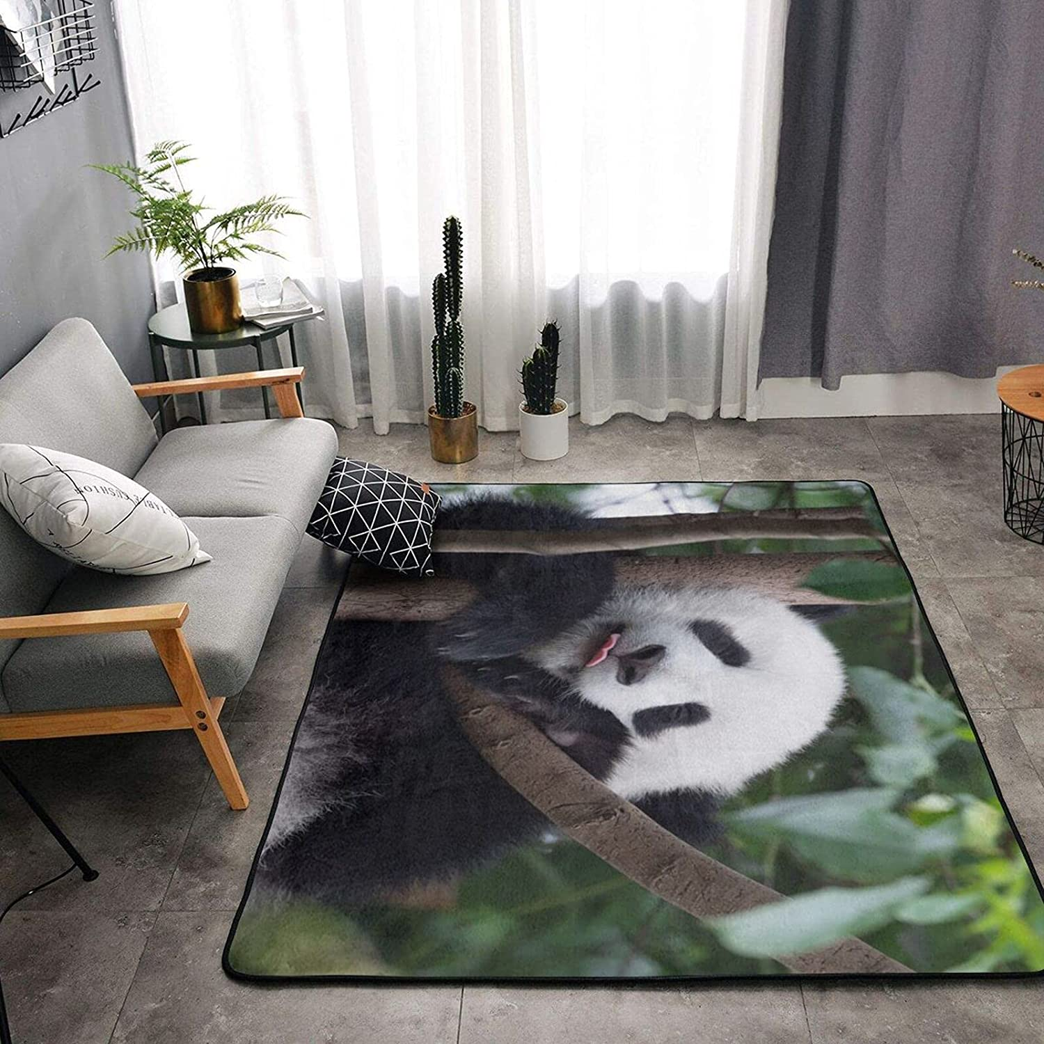 Cute Happy Baby Los Angeles Mall Panda Soft Ranking TOP19 Area Bedroom Sh Living Room for Rugs