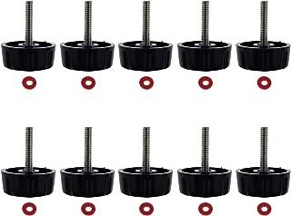 Kasteco 10 Pack Screws Nuts Caps for Fishing Spinning Reels Knob Power Handle Grip