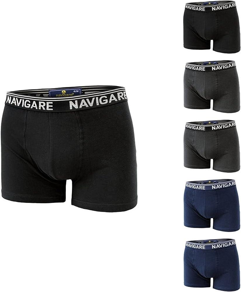 Navigare, 6 boxer per uomo,in cotone elasticizzato con elastico esterno 573