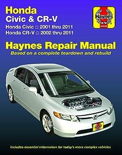 Haynes Honda Civic 2001 thru 2011 & CR-V 2002 thur 2011 Repair Manual (Haynes Automotive): Does Not Include Information Sp...