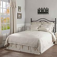 Piper Classics Farmhouse Ticking Stripe Duvet Cover Bedding, Beige Taupe & Off-White, Queen 92x92, Comforter Cover w/Twill...