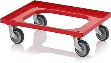 """Transporte Roller Rojo con gumm ruedas para 60x 40Euro Depósito Incluye ZOLLSTOCK """""""