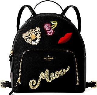 Kate Spade Women's Black Run Wild Leopard Tomi Small Backpack