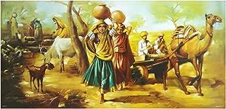 Avercart Ancient Village Scene of India Poster 40x20 inch Unframed