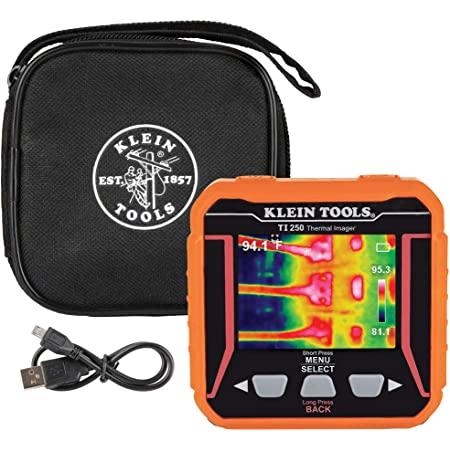 Klein Tools TI250 Rechargeable Thermal Imager, Camera Displays Over 10,000 Pixels with 3 Color Palettes, High/Low Temperature Points