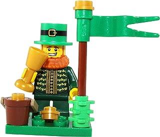 LEGO St Patrick's Day Leprechaun & Pot of Gold Toy - Custom Saint Patty's Irish Minifigure