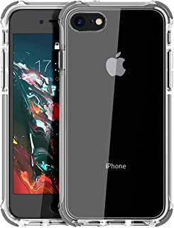 MATEPROX iPhone 8 case iPhone 7 Case Clear Shield Heavy Duty Anti-Yellow Anti-Scratch Shockproof Cover Compatible with iPhone 7/8 Gray