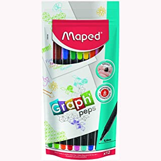 Maped Fineliner Pen Set of 12 pieces