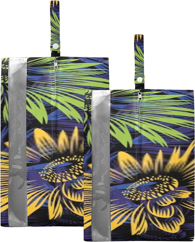 Waterproof 2021 Travel Shoe Bag Pack Luxury Sunflower Design Zipper Sto