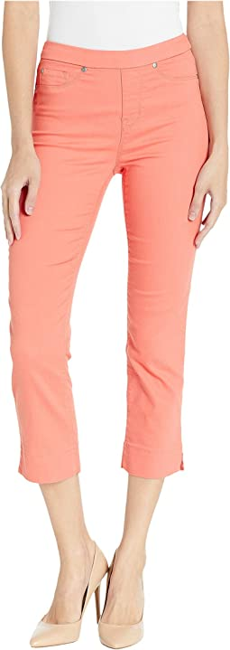 Soft Touch Denim Pull-On Capris w/ Side Slit in Sunset