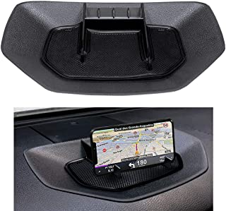 ZOIBV Car Dash Center Console Table Storage Tray,Dashboard Instrument Organizer Multi-Function Phone Holder Cradle for Toyota Tundra 2014-2019 Accessories,ABS Silicone Anti-Slip Backing