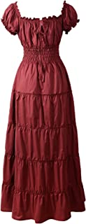 Renaissance Dress Costume Pirate Peasant Wench Medieval Boho Chemise