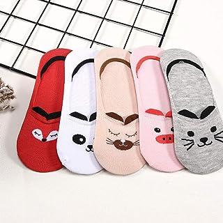 Calcetín 5 Pares/Lote Calcetines De Algodón De Verano para Mujeres De Dibujos Animados Animales Gato Panda Cerdo Calcetines Cortos Zapatillas De Mujer Sokken