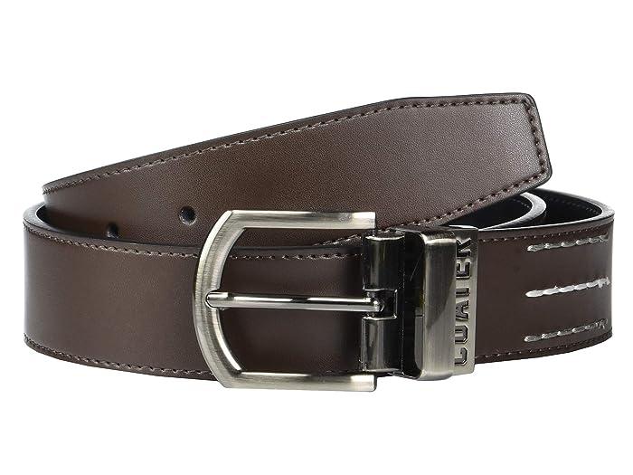 TravisMathew Brass Tacks Belt (Dark Brown/Black) Men