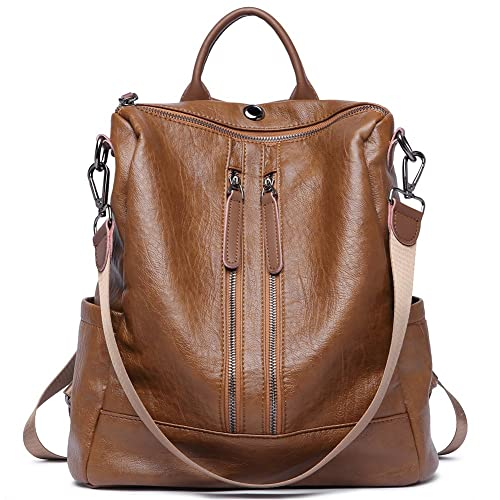 Women Backpack Purse Leather Fashion Travel Large Casual Covertible Ladies  Shoulder Bag 59029c3cc4