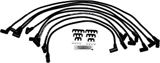 A-Team Performance Silicone Spark Plug Wires Set Compatible with SBC Small Block Chevy Chevrolet GMC Over the Valve Cover Wires 283 305 307 327 350 400 Black 8.0mm
