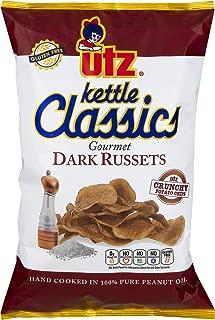 Utz Kettle Classics Gourmet Dark Russets Potato Chips 8 oz. Bag (3 Bags)