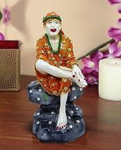 TiedRibbons Hindu Saint Guru Sai Baba Idol Statue Figurine Decorative Showpiece Sculpture(18 cm X 9 cm X 9 cm, Resin)