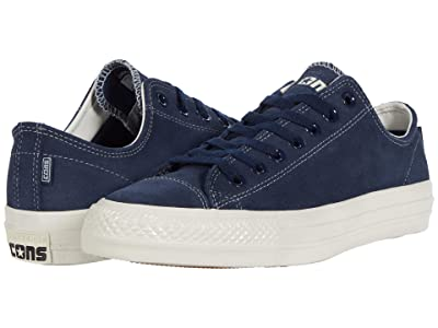 Converse Skate Chuck Taylor(r) All Star(r) Pro Suede Ox (Obsidian/Obsidian/Egret) Skate Shoes