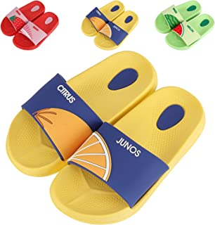 Little Boys Girls Cute Fruits Slides Sandals-Non Slip Beach Sandals House Slippers-Kids Toddlers Lightweight Slide on Sandals for Indoor and Outdoor