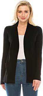 YourStyle USA Women's Knit Cardigan – Classic Open Front Long Sleeve Soft Solid Ribbed Knitted Sweater with Pockets