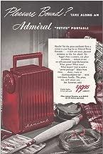 1948 Admiral Petite Portable Radio: Pleasure Bound, Admiral Print Ad