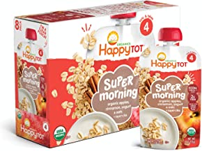 Happy Tot Organic Stage 4 Super Morning Apple Cinnamon Yogurt Oats + Super Chia, 4 Ounce,..