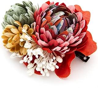 [ミッシュキッシュ]髪飾り ヘアアクセサリー コサージュ アンティーク風和柄クリップ 4517-467