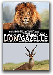 IT DOESN'T MATTER WHETHER YOU'RE A LION OR A GAZELLE POSTER