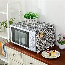 HHYK Porcelana Flor De Microondas Campana Cubierta De Aceite Protector contra El Polvo con Bolsa De Almacenamiento Accesorios Cocina De La Decoración del Hogar