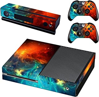 UUShop Protective Vinyl Skin Decal Cover for Microsoft Xbox One Console wrap sticker skins with two Free wireless controller decals Cosmic Nebular(NOT for One S or X)