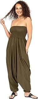 likemary Harem Jumpsuit for Women & Cotton Harem Pants - Maxi Strapless Romper