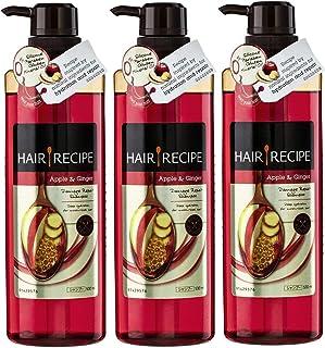 3x Hair Recipe Apple and Ginger Damage Repair Shampoo 530mL