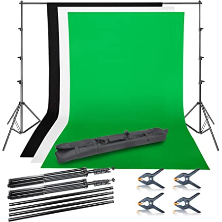 Backdrop Stand Heorryn 6.5 x 10ft Background Stand Adjustable Photography Muslin Background Support System Stand for Photo Video Studio