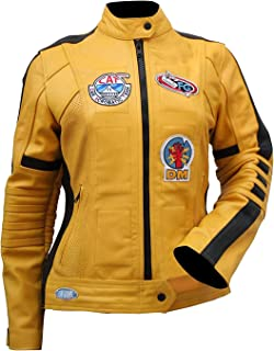 Uma Thurman (The Bride) Kill Bill Yellow Leather Biker Jacket for Women