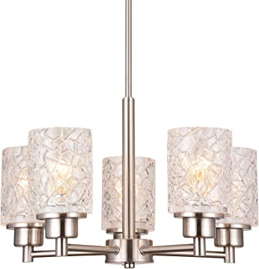 """Alice House 18.1"""" Dining Room Chandeliers, Brushed Nickel Contemporary Light Fixture for Foyer, Entrance and Living Room AL90"""