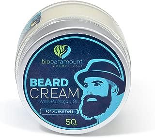 Bio Paramount Beard Care Balm Leave in Conditioner Wax for Men All Nature Organic Shea Butter & Argan Oil Beard Cream for Beard Growth,Softener,Styling & Moisturizing USDA & ECOCERT Certified