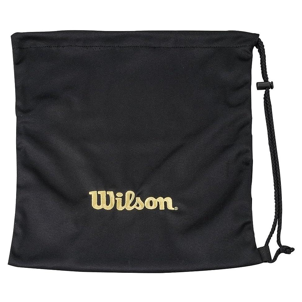 ブランド系統的まだらWilson(ウイルソン) グラブ袋 WTA8020BL ブラック L38xW35 (cm)