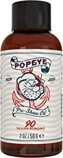 Pre Shave Oil for Men by Popeye Shaving Co - 2 oz Sandalwood - Irritation Free Shave Protects and Hydrates Your Skin - All...