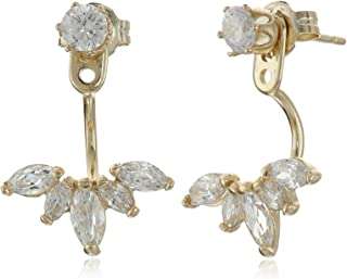 Marquise Gold Earring Jackets