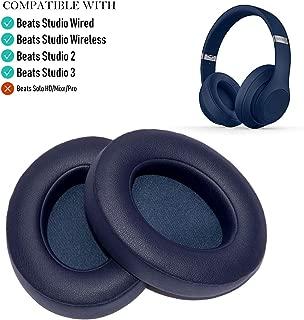 Oriolus Replacement Ear Pads Cushions for Beats Studio 3 Studio 2 Wireless B0500 B0501 Headphones (Dark Blue)